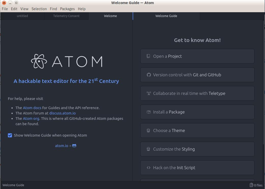Atom — редактор кода
