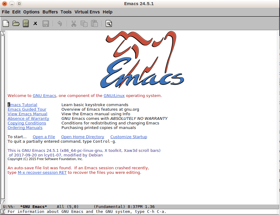 GNU Emacs editor
