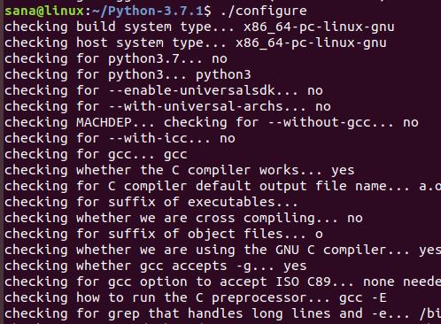 настройка Python в Ubuntu