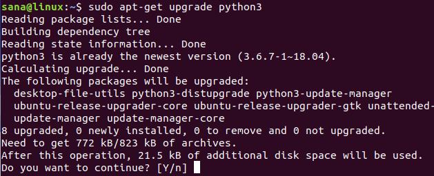 обновить python 3 до последней версии на ubuntu
