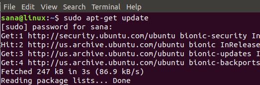обновить репозиторий sudo apt-get update