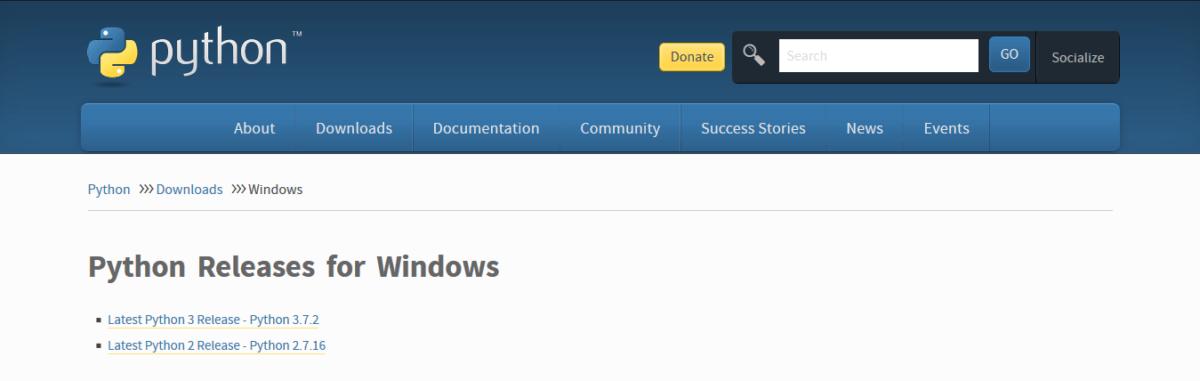 Скачать Python на Windows