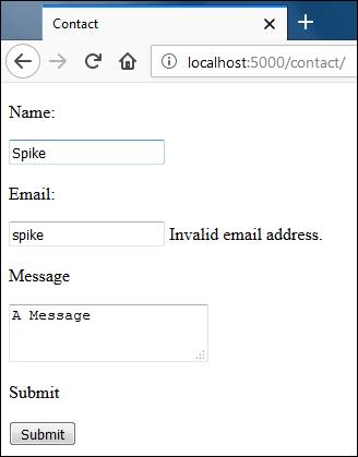 ошибка валидации email во Flask