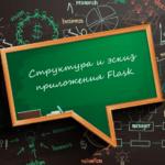 Структура и эскиз приложения Flask