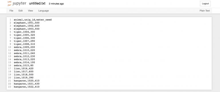 Копируем данные в текстовый файл в Jupyter