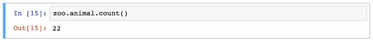 функция count для колонки