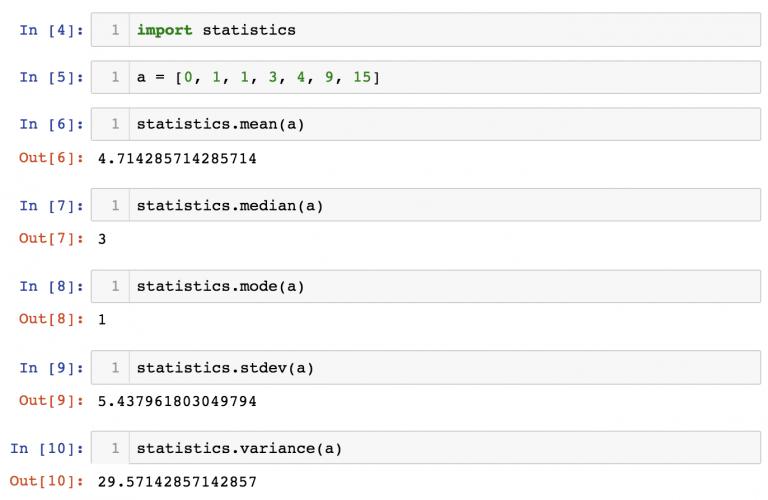 Встроенный модуль №2: statistics