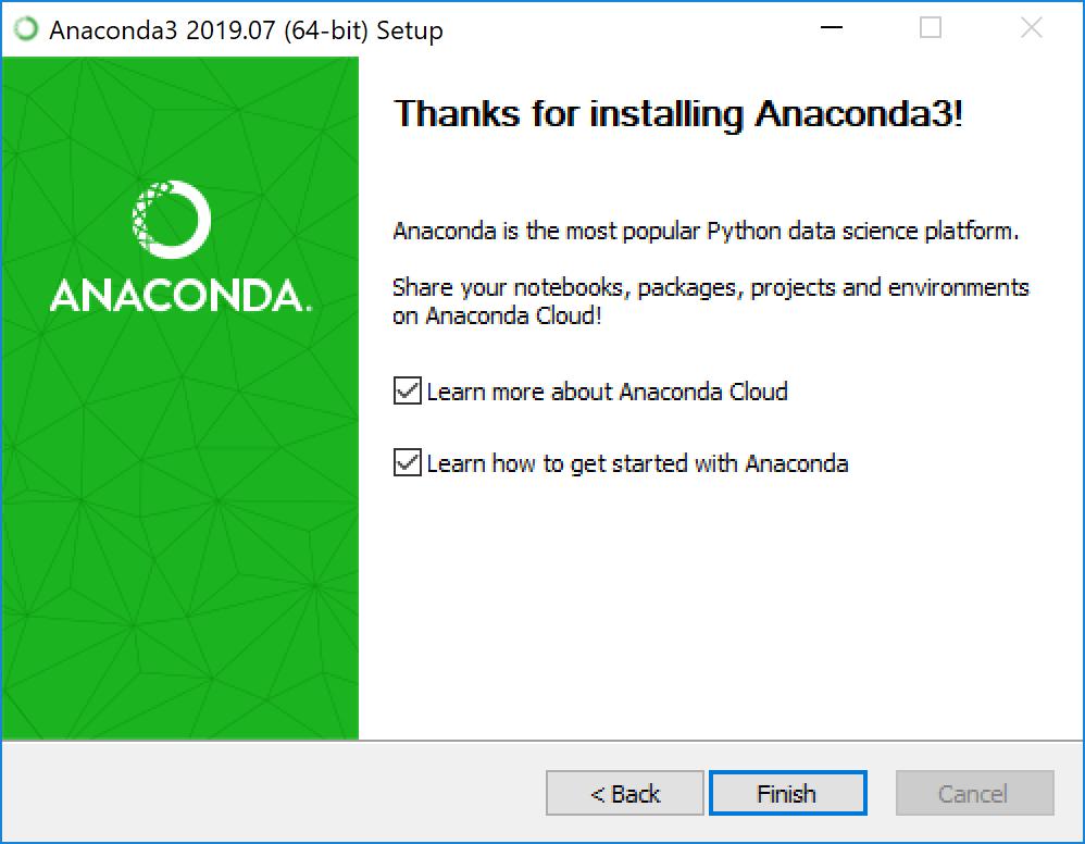Вы установили Anaconda на Windows