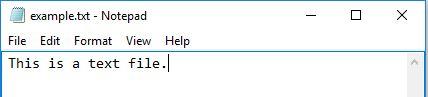 Текстовый файл пример