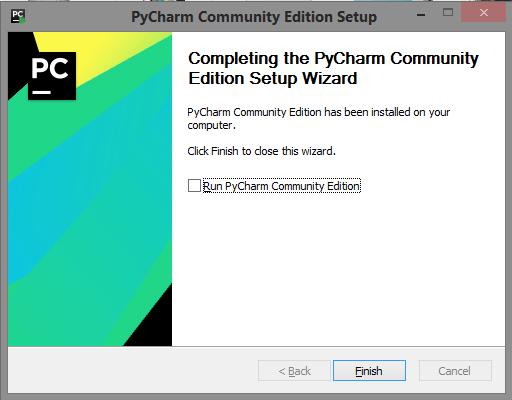 Завершение установки PyCharm