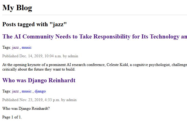 """список постов с тегом """"jazz"""""""