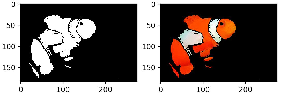 сегментация Немо в пространстве HSV