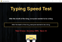 Программа на Python для проверки скорости набора текста