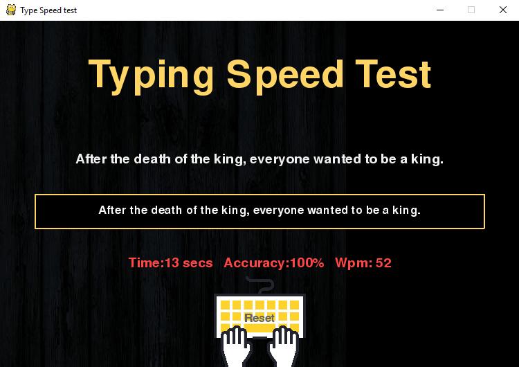 Программа для проверки скорости набора текста результат