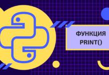 1. Функция print()