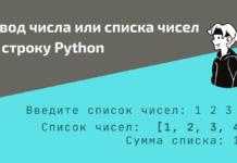 Ввод числа или нескольких чисел в строку Python