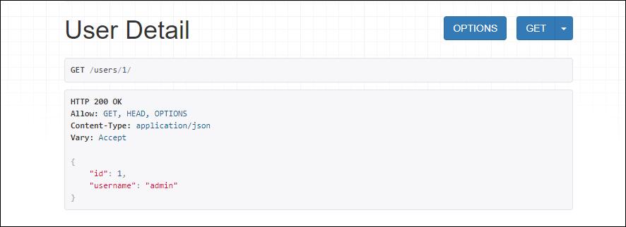 Django REST framework User Detail