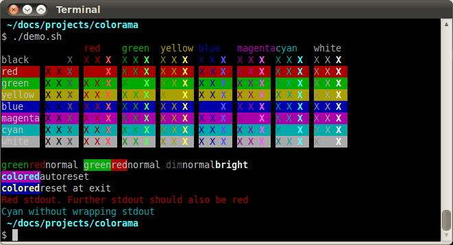 ANSI-последовательности на Ubuntu под gnome-terminal