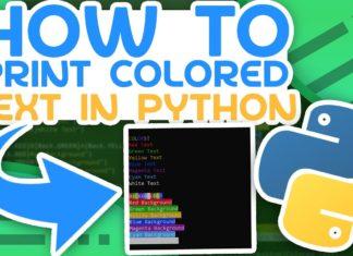 Цветной вывод текста в Python