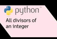 Нахождение делителей числа с помощью Python